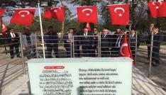 Bakan Özlü, Ömer Halisdemirin mezarını ziyaret etti