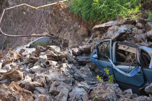 Ortaköy'de duvar çöktü
