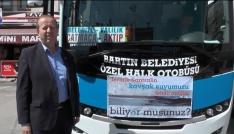 Halk otobüsü şoförleri içme suyuna sahip çıktı