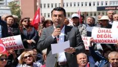 CHPden Ohal Değil Demokrasi İstiyoruz Eylemi