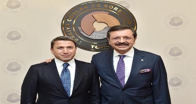 Siirt TSO heyeti, TOBB Başkanı Hisarcıklıoğlunu ziyaret etti