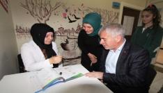 Başkan Memiş Dede Korkut Kolejini ziyaret etti