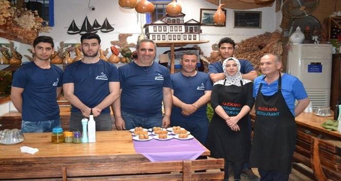 Erzurum'un Meşhur Kadayıf dolması Bodrum'da