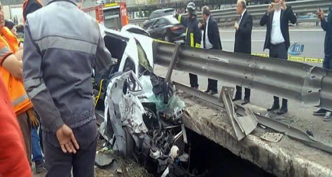 TEM otoyolunda zincirleme kaza! Valinin ve kaymakamların eşleri yaralandı