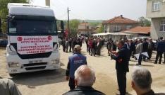 Biganın Hacıpehlivan köyünden Afrine yardım