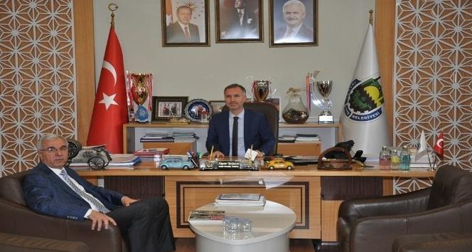 Nüfus Müdürü Solmaz'dan Başkan Taban'a veda ziyareti