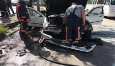 Elazığda araç yangını