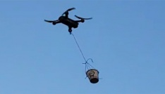 Drone ile çay servisi yapmayı denediler