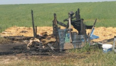 Hayvan çiftliğinde yanarak can verdi