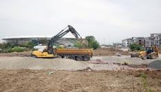 Kanalizasyon ve yağmursuyu altyapısı inşası devam ediyor