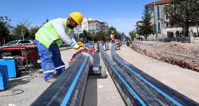 Aksarayda 30 yıllık içme suyu hattı yenileniyor