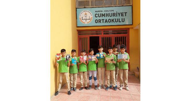Keşan Belediyesinin gönderdiği kitaplar Kızıltepeye ulaştı