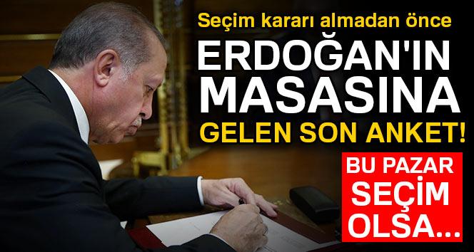 Erken seçim öncesi Erdoğan'ın masasındaki son anket!