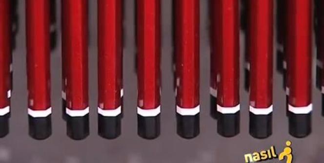 Kurşun kalem böyle yapılıyor...