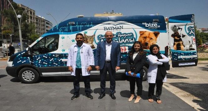Batmanda hayvanlar için ambulans