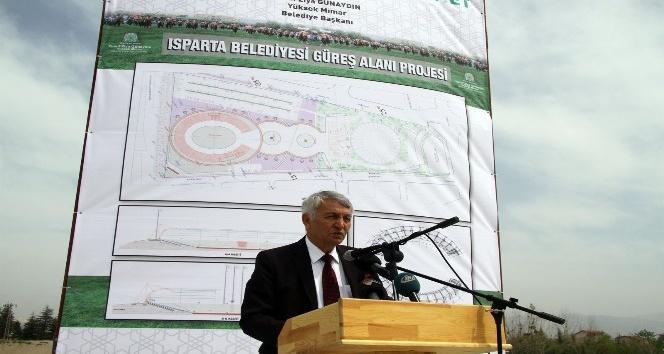 Ispartaya 8 milyon TLlik güreş alanı projesi