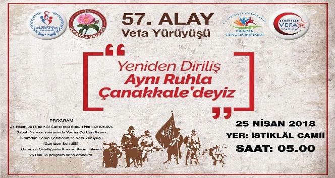 Isparta Gençlik Merkezinden 57.Alay Anısına Vefa Yürüyüşü daveti