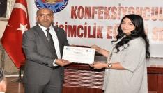 Elazığda 200 kursiyer sertifika aldı