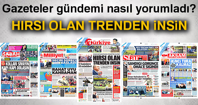 20 Nisan 2018 Gazete Manşetleri