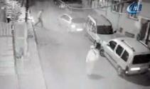 İstanbulda facianın eşiğinden dönülen anlar kamerada