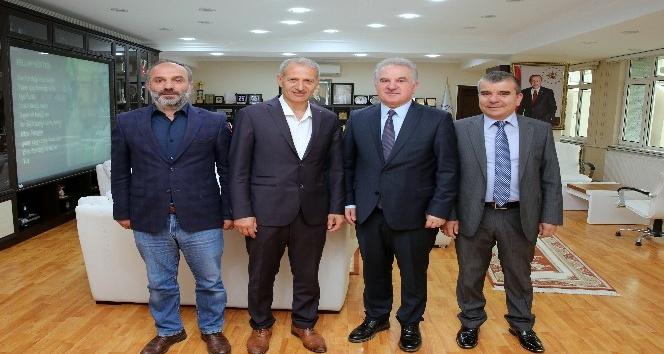 Prof. Dr. Muzaffer Elmastan Başkan Dişliye ziyaret