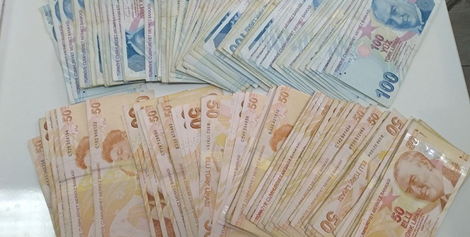 Üzerinden binlerce lira para çıktı