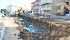 Lapsekide kanalizasyon inşaatı tamamlandı
