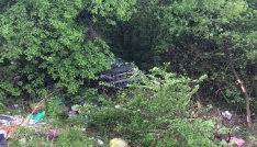 Karabükte otomobil şarampole uçtu: 5 yaralı