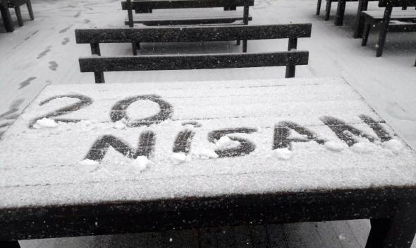 Nisan ayında kar sürprizi...