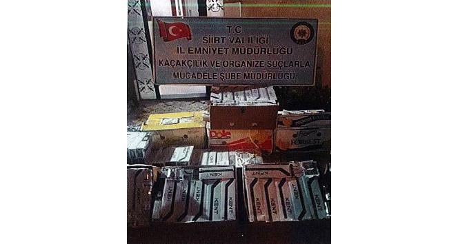Siirtte 5 bin 600 paket kaçak sigara ele geçirildi
