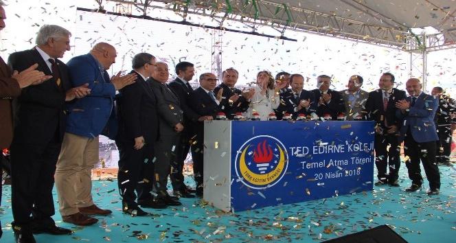 TED Edirnede 40ıncı okulunun temelini attı