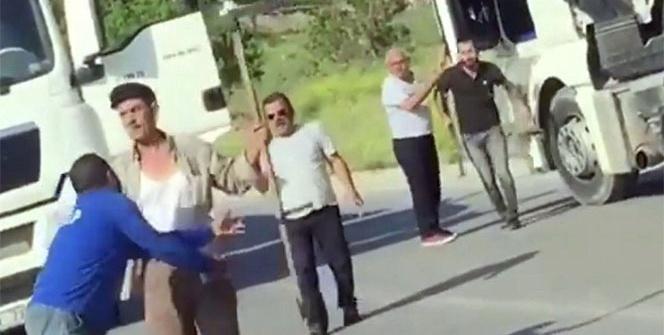 Tırpanlı tır şoförü dehşeti