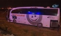 Konya'da otobüs yoldan çıktı! Çok sayıda yaralı var