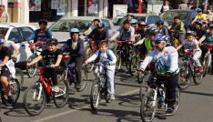 """Aydında """"Bisikletini Al da Gel"""" etkinliği düzenlendi"""