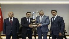 Malatya Büyükşehir Belediyesi Daire Başkanları Başkan Çeliki ziyaret etti