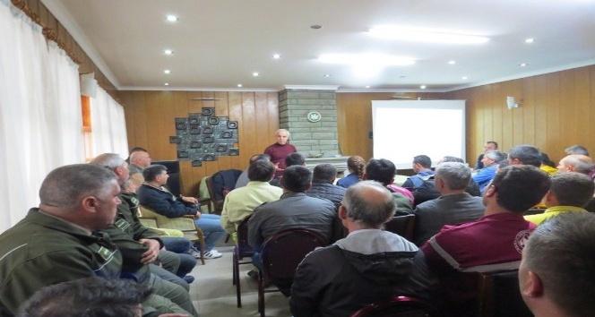 Bigada yangın eğitim semineri verildi