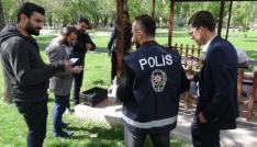Aksarayda piknik alanlarında polis uygulaması