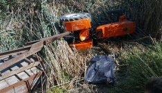 Ehliyetsiz kullandığı traktör sonu oldu