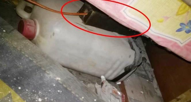 Afrinde yatağın altına tuzaklanmış EYP imha edildi