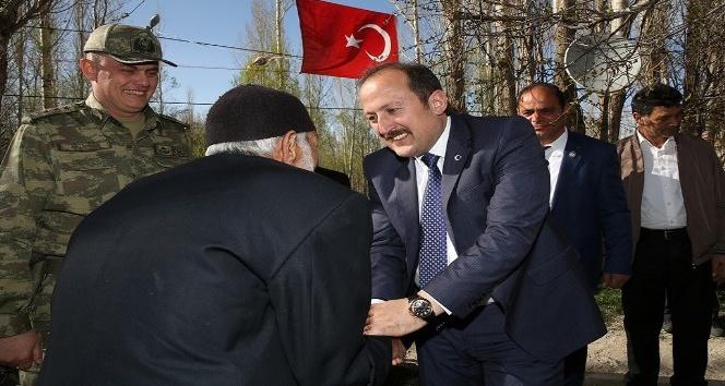 Vali Ali Hamza Pehlivan, Kore Gazisi Kemal Kalacoşu ziyaret etti