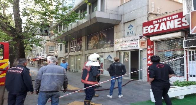 Ankarada okulda yangın paniği