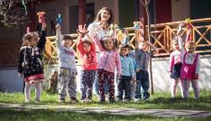 Çocuklar Tepebaşında mutlu