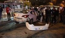 Konya'da kontrolden çıkan otomobil dehşet saçtı: 1 ölü