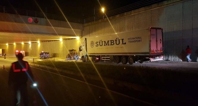 Edirnede zincirleme trafik kazası: 1 yaralı