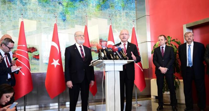 Karamollaoğlundan Kılıçdaroğluna İYİ Parti desteği