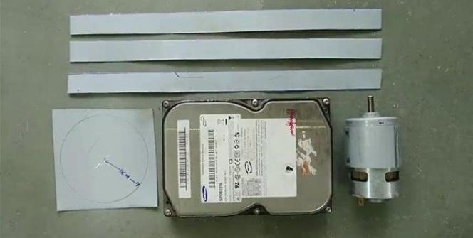 Bilgisayar parçalarından öyle bir şey yaptı ki...
