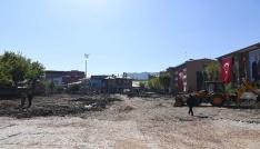 İstasyon Caddesi üst yapı çalışmaları devam ediyor