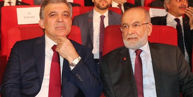 Abdullah Gül ve Saadet Partisi lideri bir arada