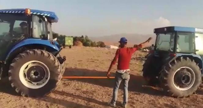 Traktörlerin güç denemesi