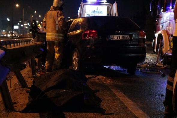 Gece yarısı dehşete düşüren kaza